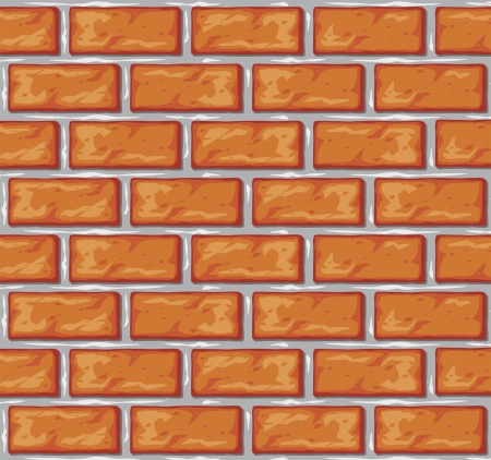 old brick wall: brick wall background  orange bricks background  Illustration