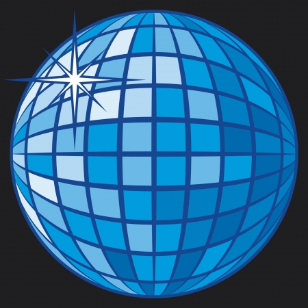 mirrored: Disco Ball Illustration