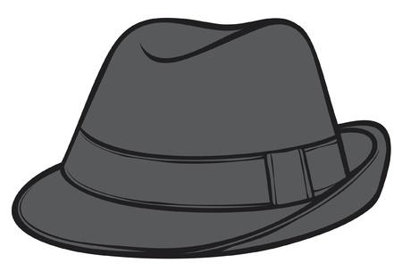 fedora hat  men s classic fedora Stock Vector - 14974408