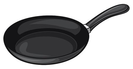 hot soup: pan (frying pan) Illustration