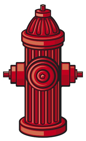 outdoor fire: Fire Hydrant Illustration