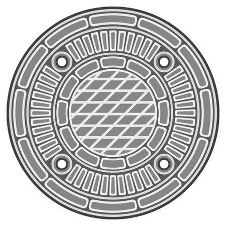 manhole cover (manhole street cover) Vector