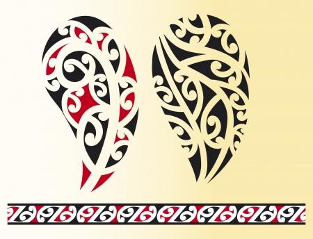 Conjunto de maori tatuaje tribal
