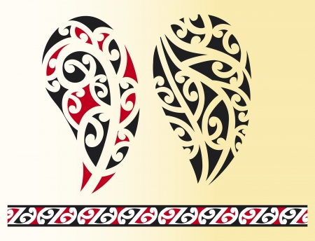 Set of maori tribal tattoo Stock Vector - 14974451