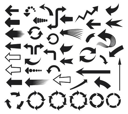 pijlen pictogrammen (pijlen iconen set)