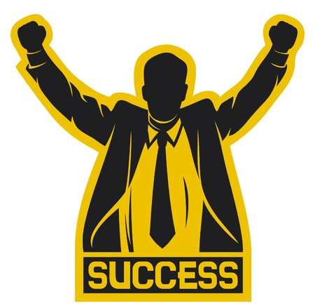 orange man: successful businessman (success)