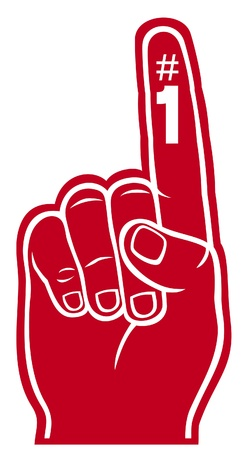 fingers: red foam finger