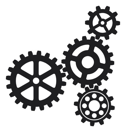 growing gears (gear icon, gears icon) Vector