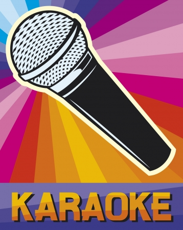 s�ngerin: Karaoke Plakat (Karaoke-Design)