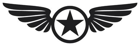 ali di angelo: stella e le ali Vettoriali