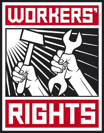 worker s rights poster  workers rights design  Stock Vector - 14974428