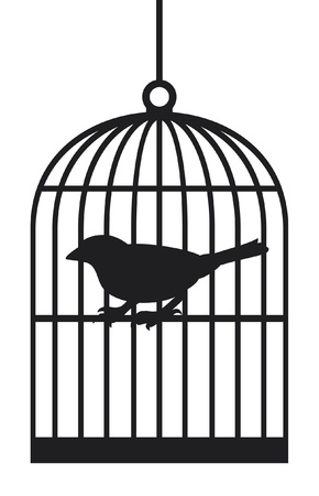silhouette bird cages Stock Vector - 14974413