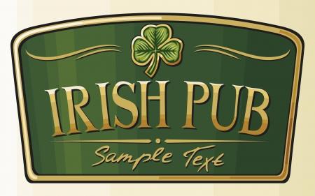 celtico: irish pub di etichettatura Vettoriali
