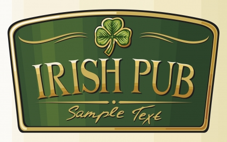 irish symbols: irish pub label design