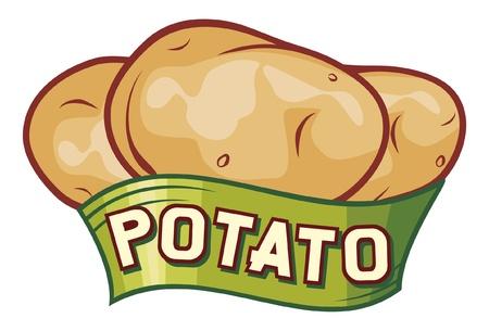 aardappel labelontwerp Vector Illustratie