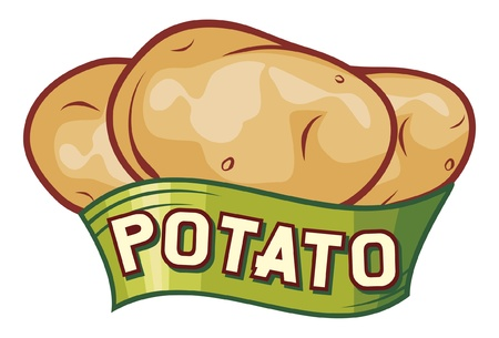 potato: potato label design