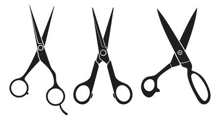 nożyczki nożyczki zestaw kolekcja Ilustracje wektorowe