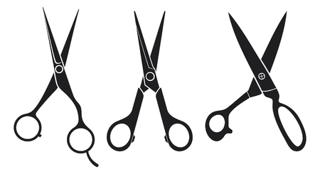 scissors set  scissors collection  Vector