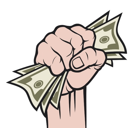 Money in the hand  Hand with money, Hand holding Banknotes Stock Vector - 14992885
