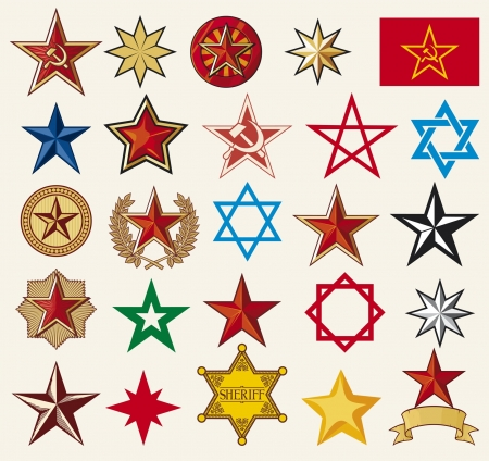 set of vector stars Vetores