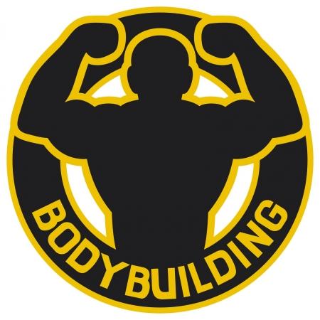 bodybuilding badge  bodybuilding symbol, bodybuilding label Stock Vector - 14994180
