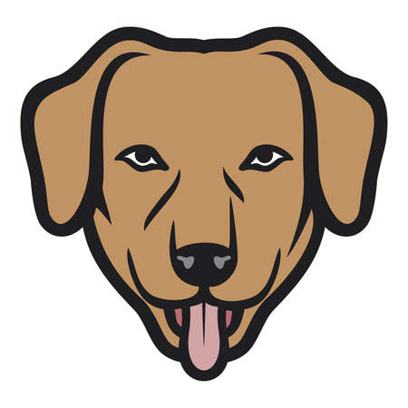 dog face  dog head  Vector