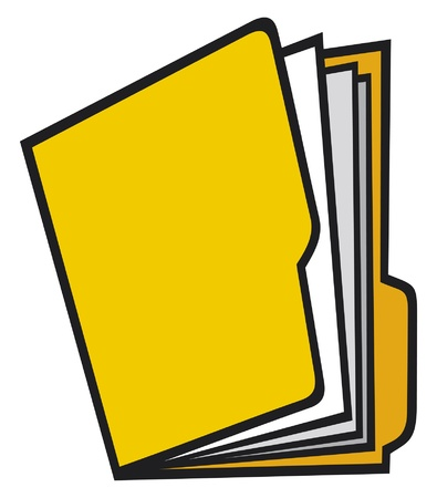 open folder  manila folder, folders with paper  Vector