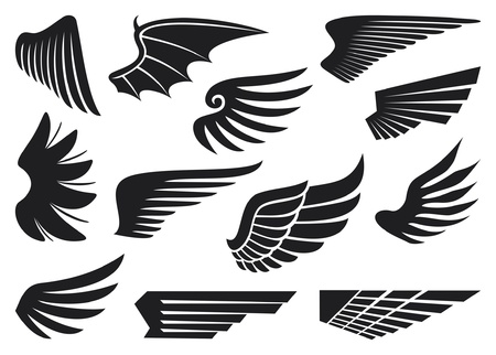 wings collection Stock Vector - 14992887