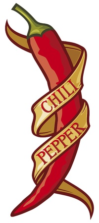 hot pepper: chili pepper label