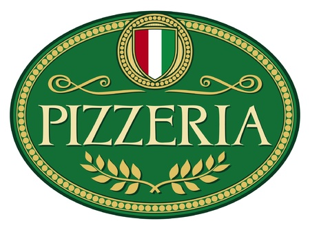 pizzeria label design Stock Vector - 14994142