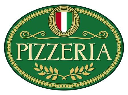 pizzeria label design Stock Vector - 14994142