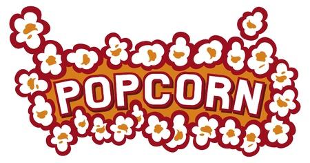 popcorn: popcorn design Illustration