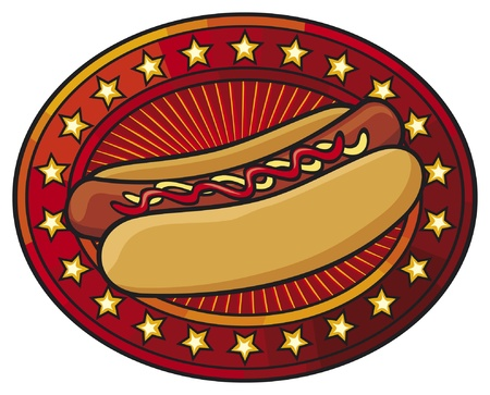 weiner: hot dog Illustration