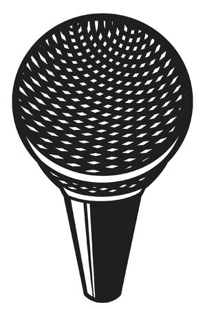 entertaining presentation: classic microphone