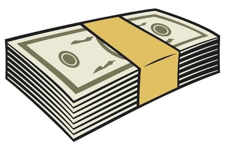 stack of cash: pila de dinero