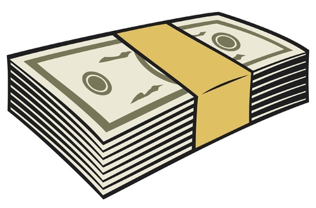 stack of money Stock Vector - 15039328