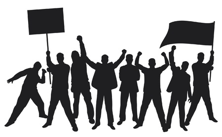 lots of fuus people protesting Stock Vector - 15039344