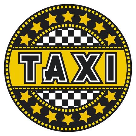 etiqueta de taxi taxi, diseño, símbolo Ilustración de vector