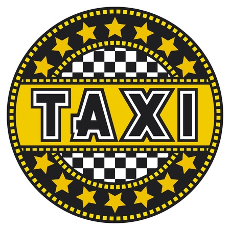 yellow tail: taxi  taxi label, design, symbol  Illustration