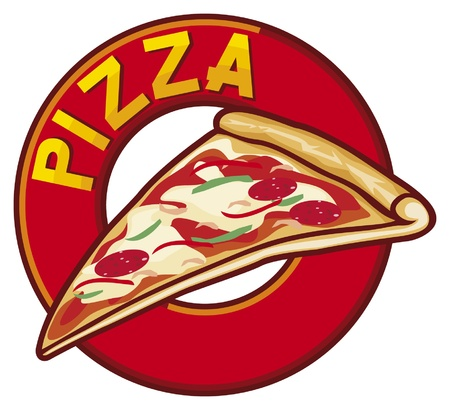 pizza label design Vector