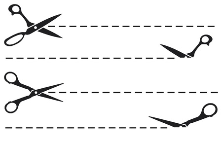 schaar knippen lijnen snijden schaar