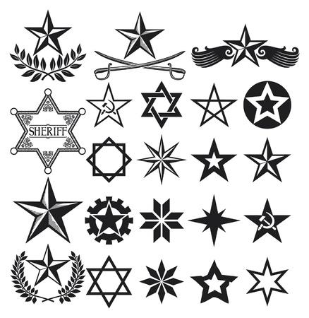 eingestellt von Sternen, Sammlung stars