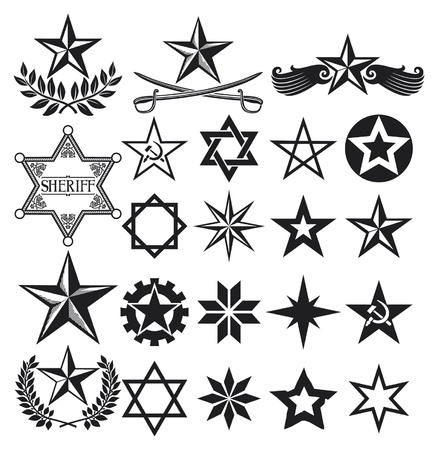 star shapes: set of  stars, stars collection Illustration