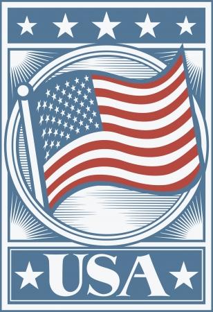 Drapeau américain Affiche USA flag affiche, USA conception