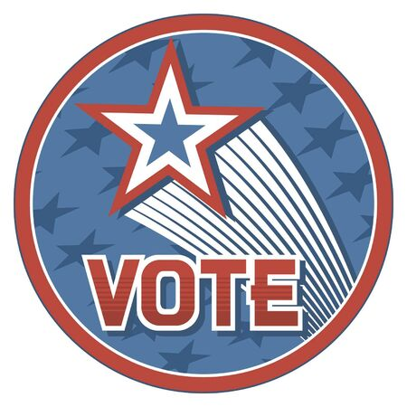 United States of America Elections pins  badge, design  Vector