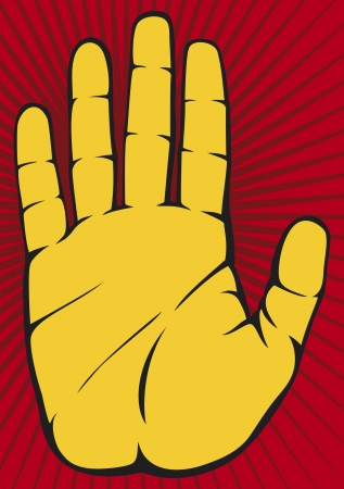 closed fist sign: Stop Hand Illustration
