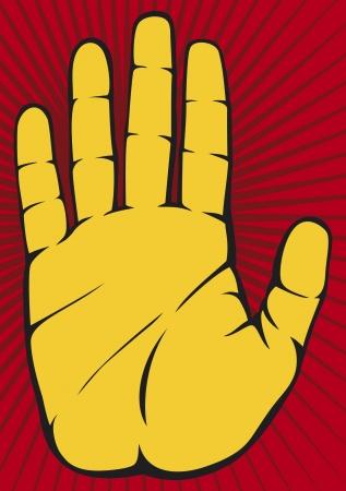 extremity: Stop Hand Illustration