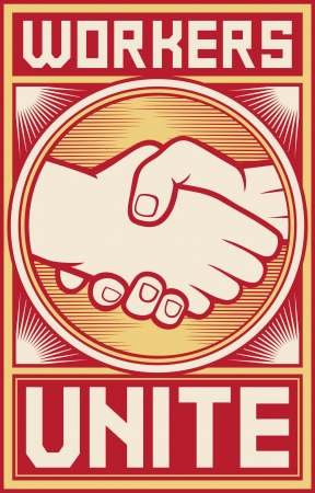 protest poster: workers unite poster  workers unite design