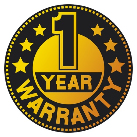 1 year warranty: 1 year warranty  one year warranty  Illustration