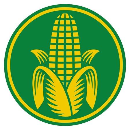 planta de maiz: Maíz símbolo Vectores